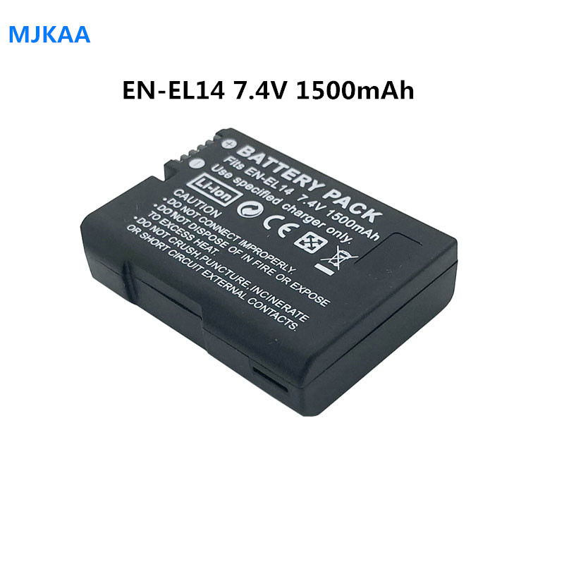 1pcs 7.4V 1500mAh EN-EL14 Batteries D5200 D3100 D3200 D5100 P7000 P7100 MH-24 Camera Battery For Nikon ENEL14