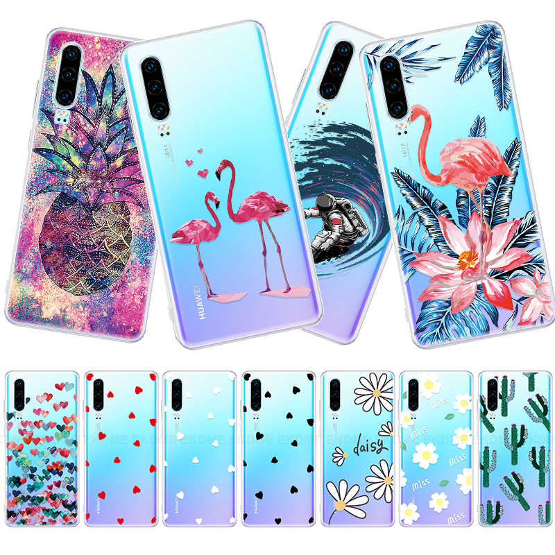 Heart Painted Soft TPU Cover For Huawei P30 P20 Lite P30 Pro P Smart Plus 2019 Back Cover Protective For Honor 10 Lite 10i 20i