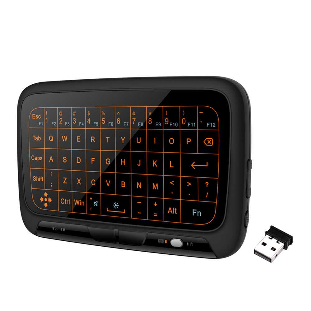 H18+ 2 4GHz Wireless Keyboard Full Touchpad Backlight