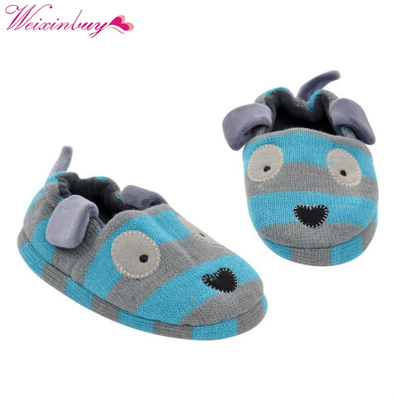Newborn Cotton Slippers Home Indoor Non - Slip Baby Plastic Cartoon Slippers New Pink Rabbit Ears