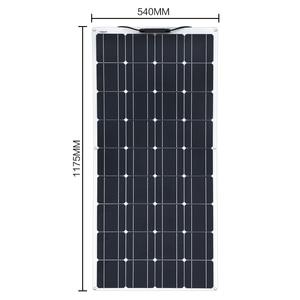 Image 2 - 200w 18v 100w panel solar flexible 12v Cargador solar monocristalino Módulo de célula solar caravana RV Sistema de Casa de yate