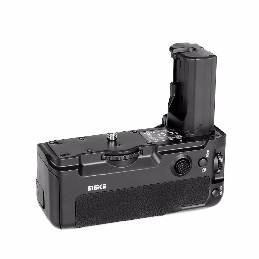 Meike MK-A9 Vertical Battery Handle Hand Grip For Sony Alpha A7R III A7RIII A9 Camera meike mk x1em metal bracket hand grip for sony a9 a7miii a7riii a7rii a7ii a7sii camera