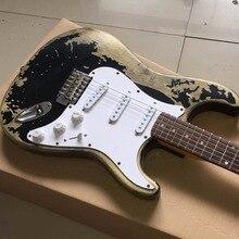 Neue heiße gitarre, neue Stil handarbeit RELIC ST elektrische gitarre OEM e-gitarre, freies verschiffen