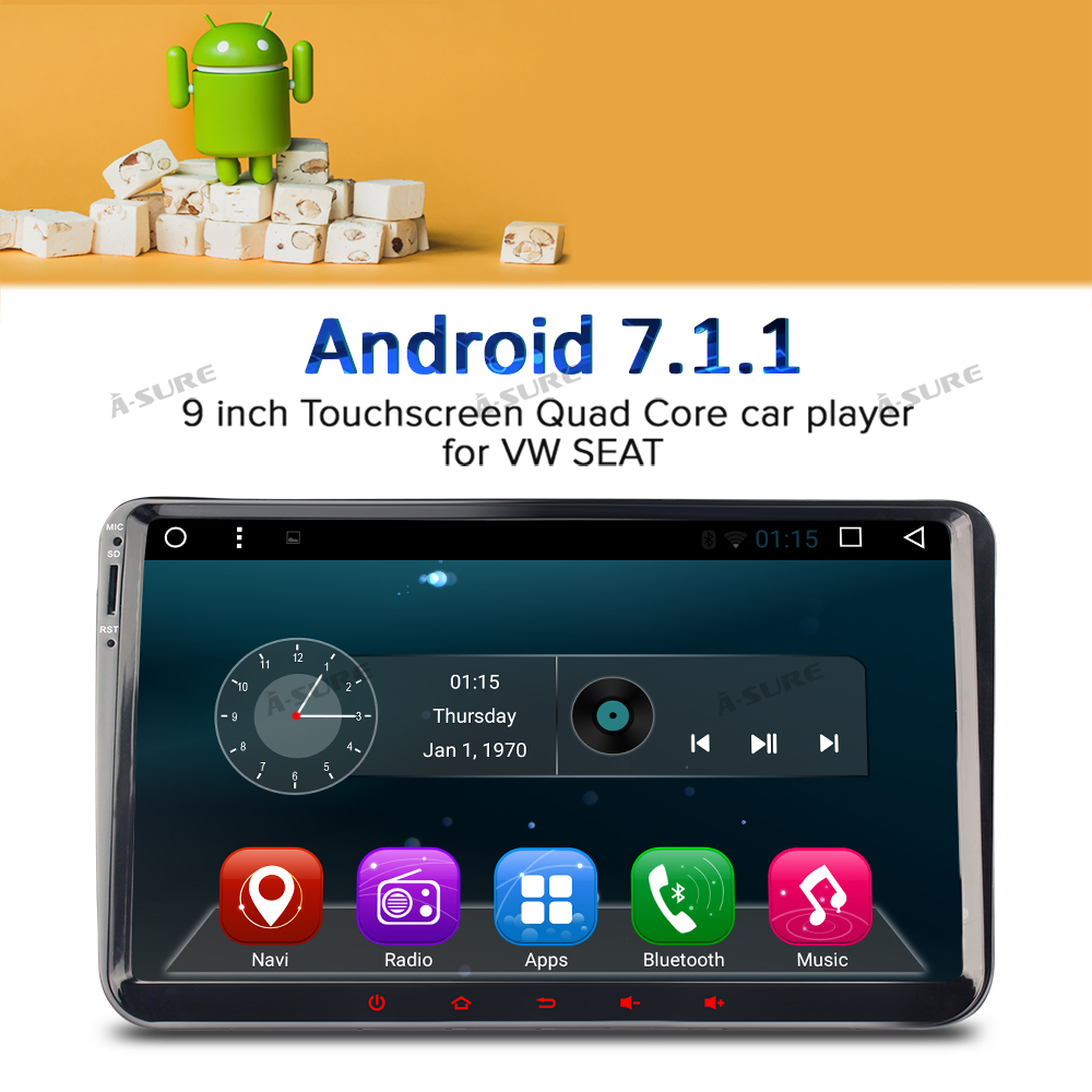 a sure dab 9 android 7 1 radio player navi sat nav gps for vw passat sharan tiguan touran caddy golf t5 jetta polo eos in vehicle gps from automobiles  [ 1000 x 1000 Pixel ]