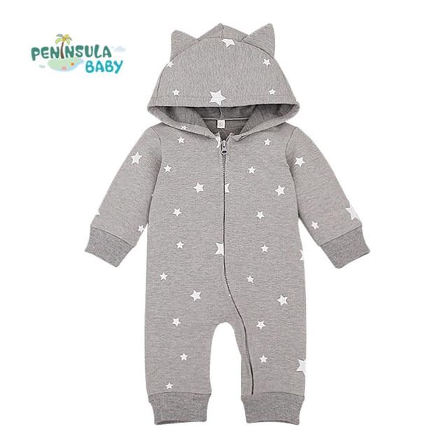 4458d9057f05 Designer Baby Boys Long Sleeve Rompers Toddler Newborn Girls Hoodied ...