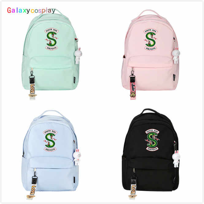 Riverdale Snake Logo Backpack Student School Shoulder Bag Teenager Unsex Travel Rucksack Knapsack Satchel Laptop Cosplay