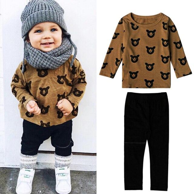 c3e9bdef6 Recién Nacido poco niños ropa conjunto bebé niño ropa de moda Niño ...