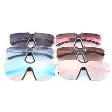 ФОТО european and american fashion trend sunglasses 2018 new sunglasses female men's and women's wild color glasses