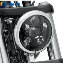 Motorcycle Universal Headlight 5.75'' inch Daymaker headlight 5 3/4'' Harley lamp led motorcycle Light for Davidson harley 883