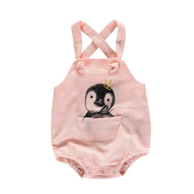 [Taoqimaidou] 2017 НОВЫЕ Трико Птица слинг С Коротким рукавом новорожденных детская одежда Тела Подходит Ropa Комбинезон MD170X026