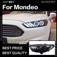 АКД стайлинга автомобилей для Ford Fusion фара 2013 2017 Mondeo DRL Mustang Дизайн Hid динамический сигнал Bi Xenon светодиодный луч аксессуары