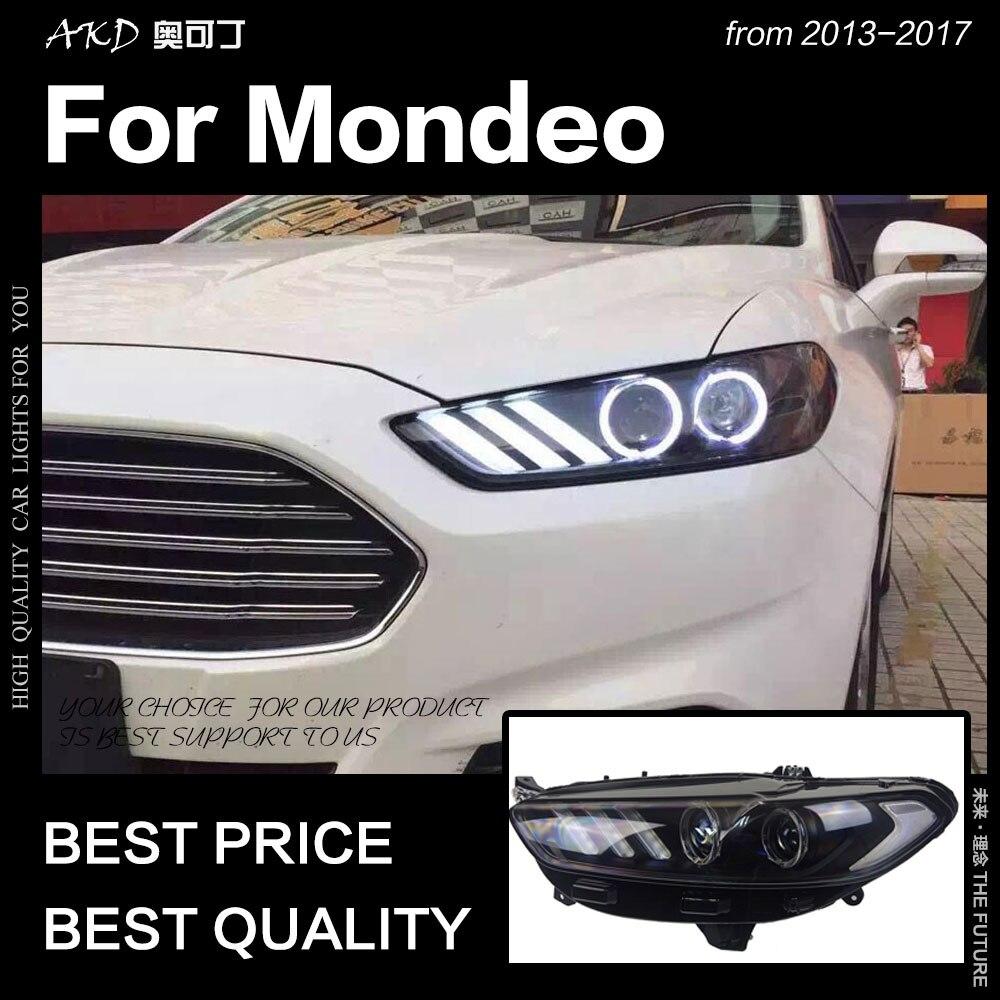 AKD Styling De Voiture pour Ford Fusion Phare 2013-2017 Mondeo DRL Mustang Conception Hid Dynamique Signal Bi Xenon LED faisceau Accessoires