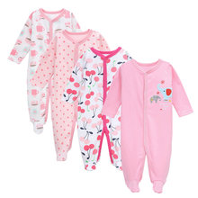 tender Babies 4 Pcs/set romper girl cotton clothes newborn