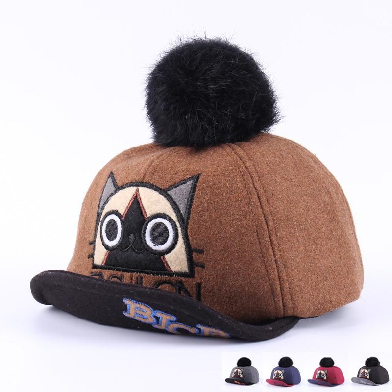 Winter baby baseball cap kat peuter cap met pompom mode jongens - Babykleding
