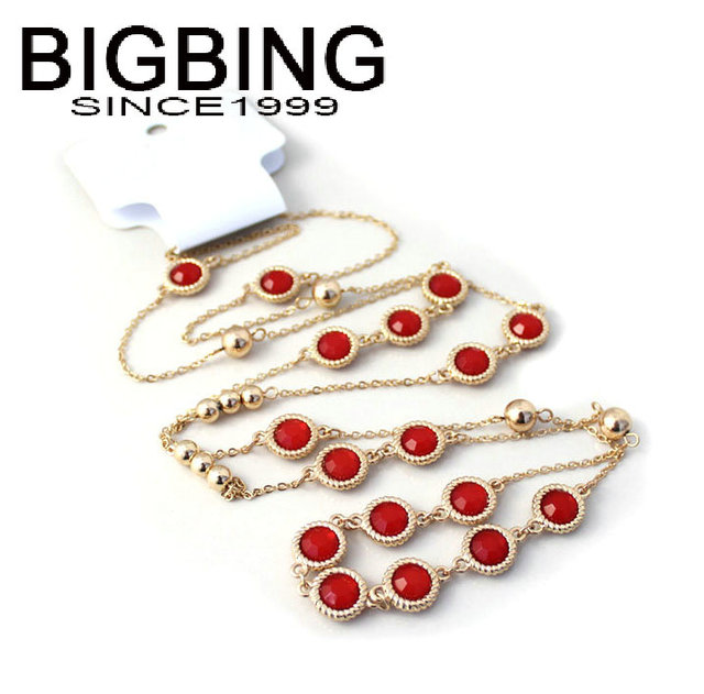 BIGBING Jewelry Red Black...
