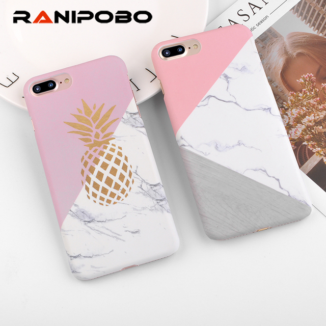 sale retailer 156c4 c7eaf US $1.18 20% OFF|Ranipobo Phone Case For iphone6 Case Geometric Splice Gold  Pineapple Pattern Marble Cover Cases For iphone 8 7 6 6s Plus SE 5 5s-in ...