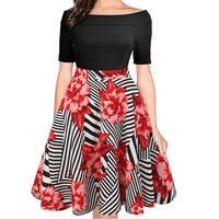 Large Size 6XL Summer Dress 2017 Plus Size Midi Dress Casual Patchwork Loose Dresses Plus Size