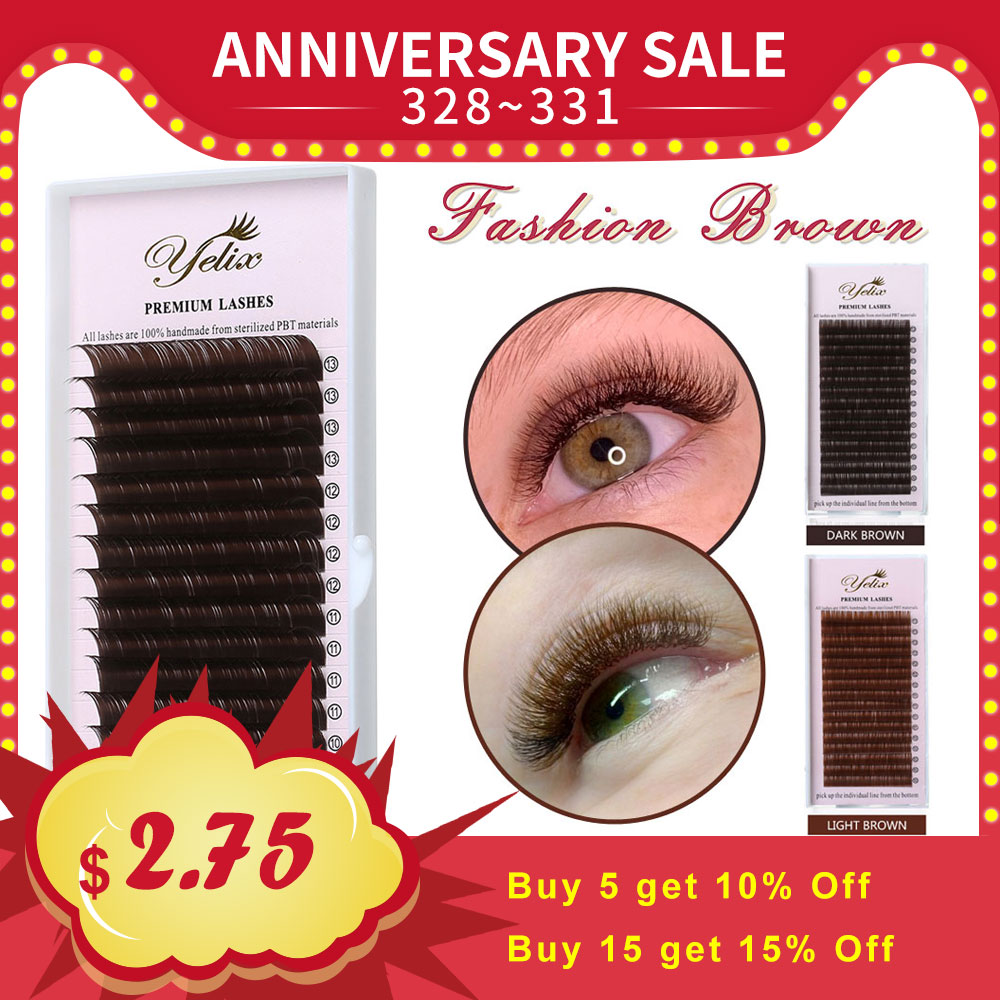 860f01aca43 YELIX 0.07 C D False Eyelashes Individual Eyelash Extension Color Fake Eye Lashes  Mink Eyelash Extension 100. US $3.78