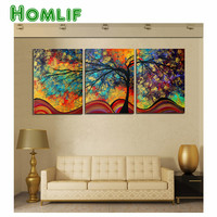 DIY 5d Diamond Embroidery 3pcs Rich Tree Diamond Painting Stitch Cross Diamond Mosaic Crystal Needlework Gift