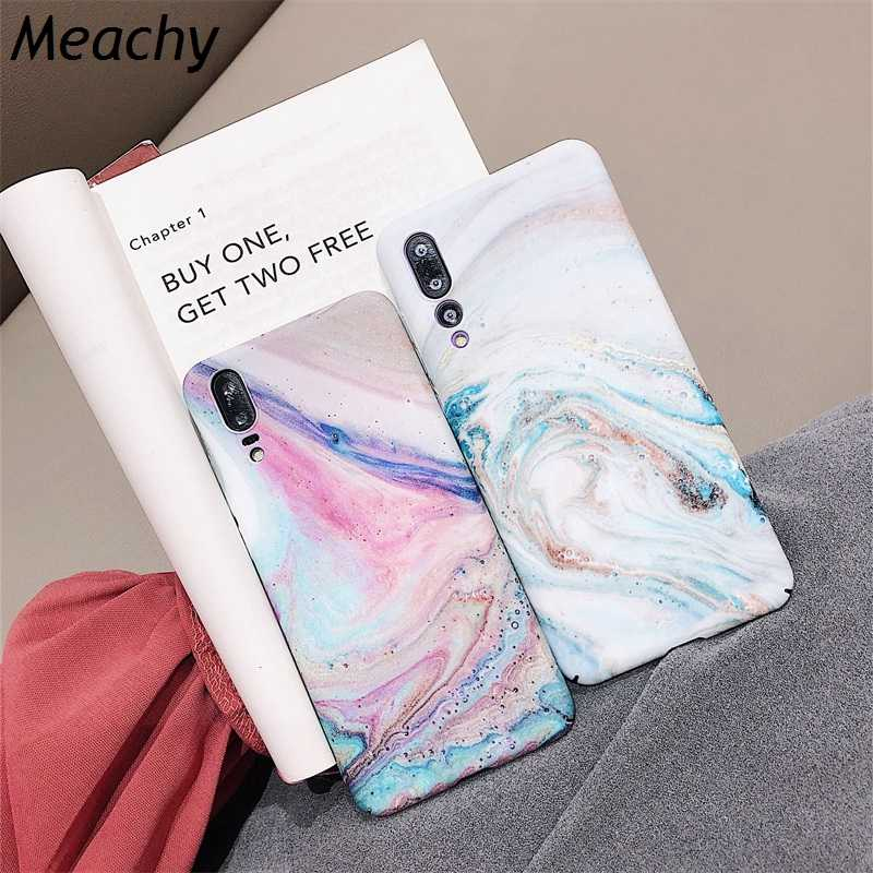 Meachy Luxury Hard PC Marble Phone Case For Huawei P30 P20 Lite Pro P20 Honor 10 Case Back Cover For Funda Huawei P20 Pro Case