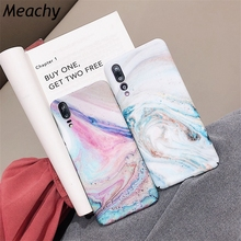 Meachy Luxury Hard PC Marble Phone Case For Huawei P30 P20 Lite Pro Honor 10 Back Cover Funda