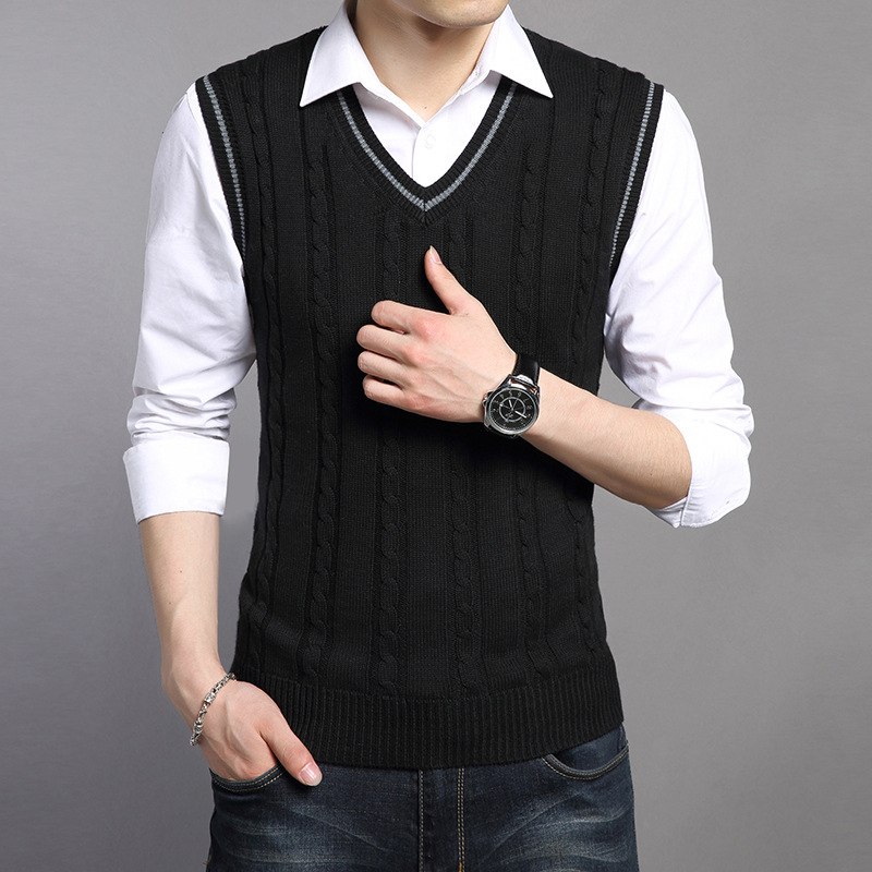9a78d3748a81f4 Cncool Wool Vest Men 2019 Autumn Winter New Classic V neck Sleeveless  Sweater Men Cotton Knitwear Pull Men Brand Clothing-in Vests from Men s  Clothing on ...