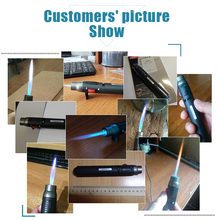 2019 Hot Sale outdoor Lighter 1300degree Torch Jet Flame Pencil Butane Gas Refillable Fuel Welding Soldering Pen free shipping