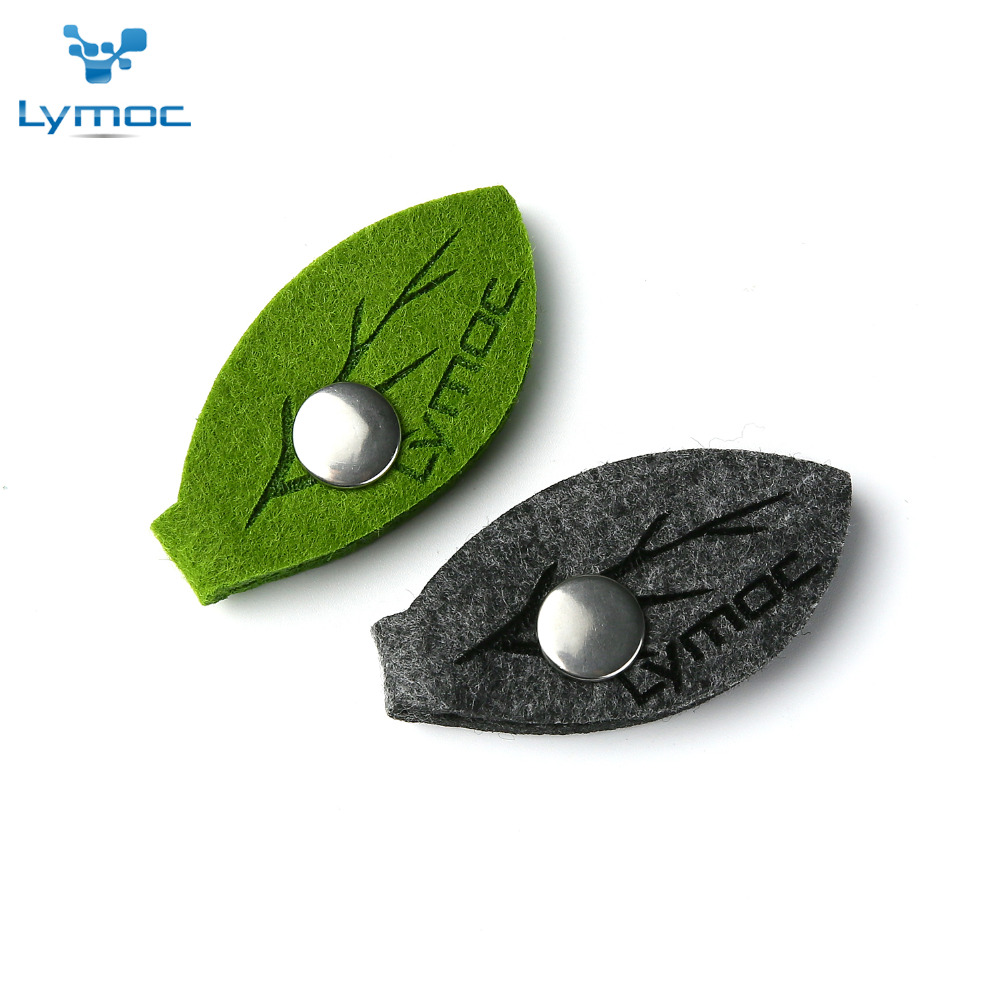 LYMOC Original Earphone Cable Winder Wrapped Felt Leaf Earphone Accessories for Headphone Headset Cable Manage Health Material