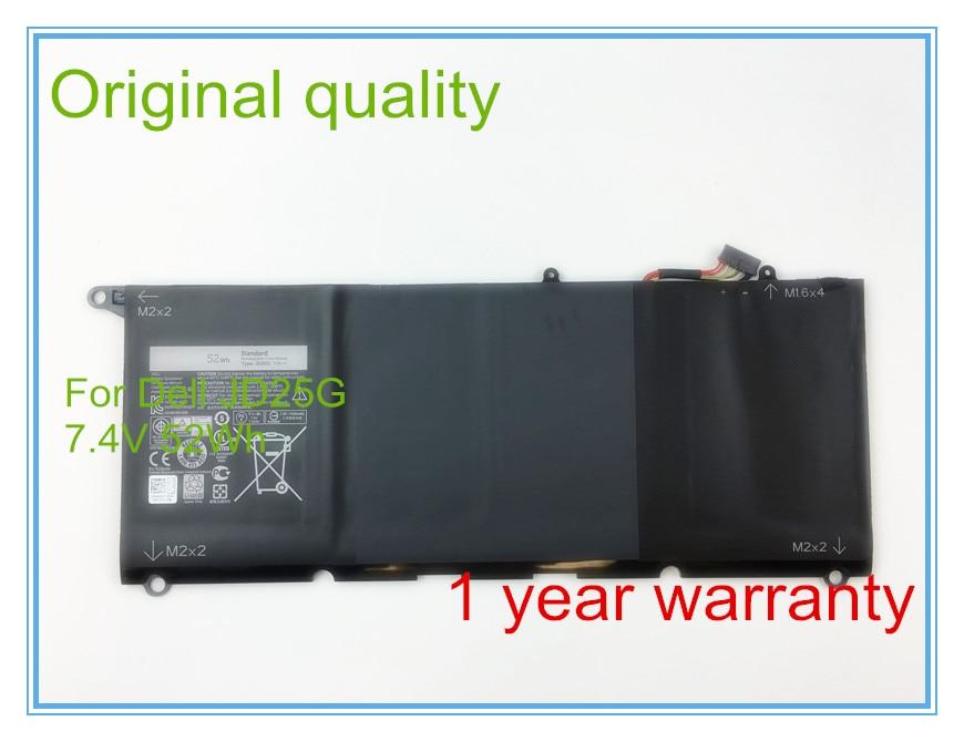 Original 7.4V 52Wh JD25G Battery for  13D  13D-9343 XPS 13D-9343-1808T series Laptop 0N7T6 0DRRP RWT1R 5K9CP DIN02 7xinbox 6 cell 6710mah 7 6v 56wh laptop battery for dell xps 13 9343 9350 90v7w 090v7w jhxpy 5k9cp jd25g