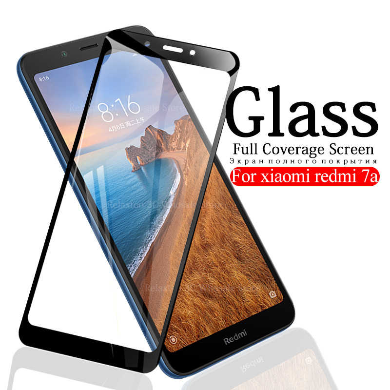 Pełna pokrywa szkło hartowane dla xiaomi redmi 7a ochraniacz ekranu ze szkła redmi 7 szkło ochronne czerwony mi a7 redmi 7a 5.45 cal folia