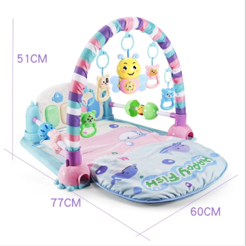 pedal do piano do bebe recem nascido do bebe rack de aptidao cobertor jogo de musica
