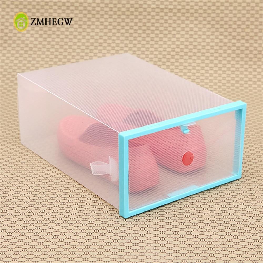 Foldable Stackable Clear Plastic Drawer Case Transparent