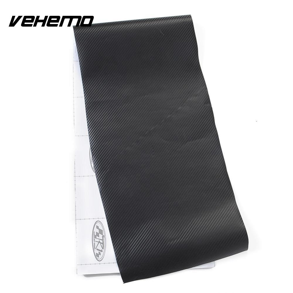 """Vehemo 12 """"x 50"""" черный 30 см x 127 см Съемный углерода Обёрточная бумага этикета кузова автомобиля Наклейки"""