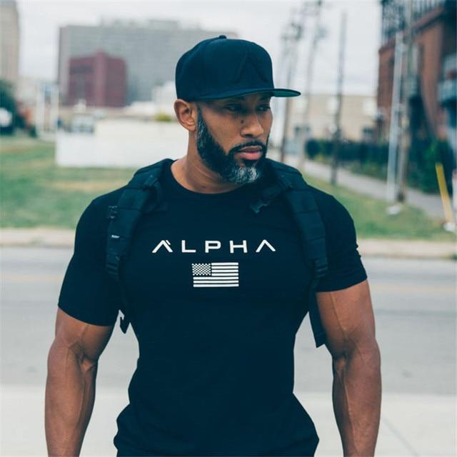 c77ef13897657 2017new marque Fitness T-Shirt hommes mode décontracté chemise Bodybuilding  T-Shirt gymnases vêtements
