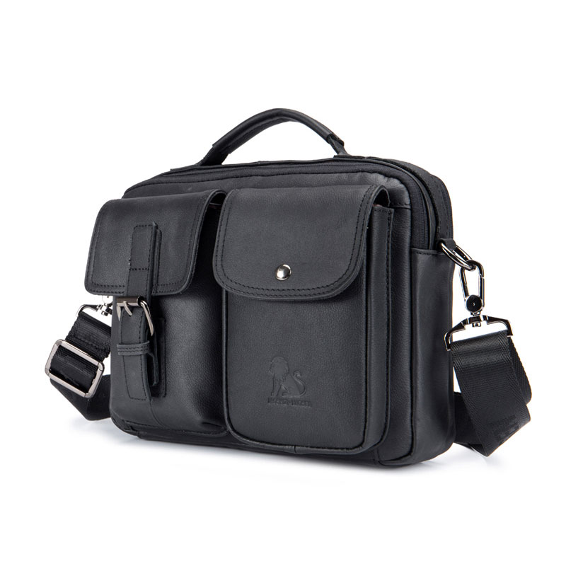 Brand Genuine Leather Men Business Messenger Bag Man Shoulder Bag Vintage Male Casual Totes Handbag Cowhide Crossbody Bag