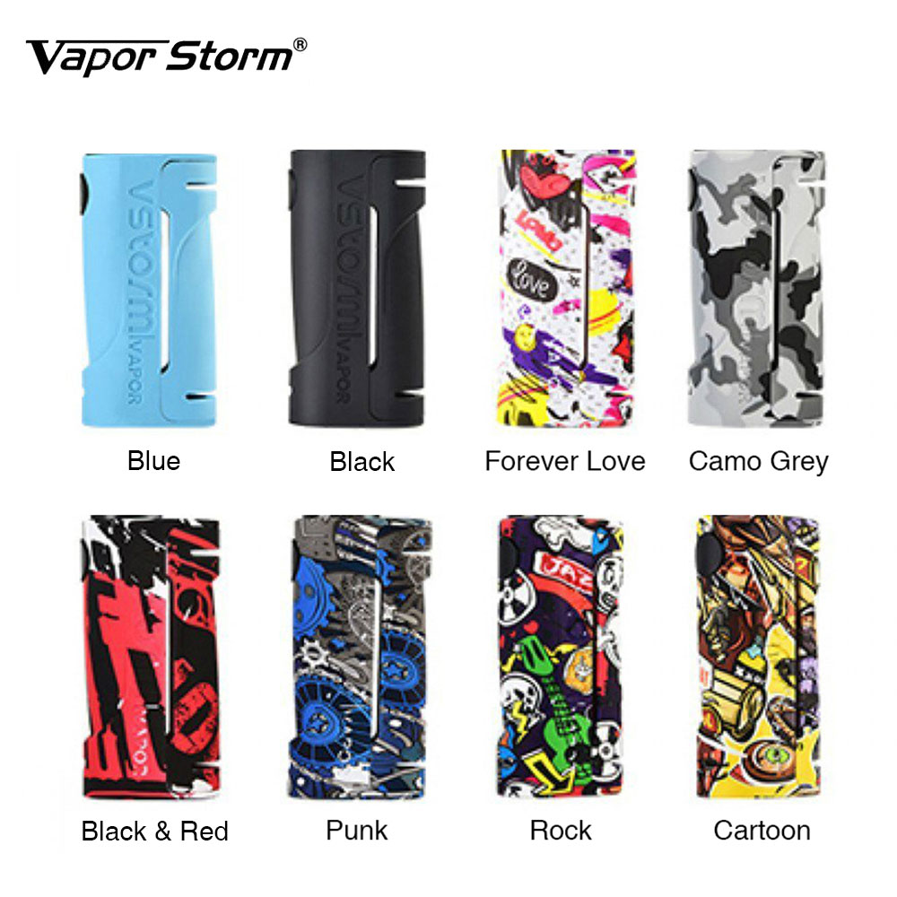 New Vape Vapor Storm ECO Box Mod Max 90W Graffiti Color Bypass Mode 510 Thread No 18650 Battery Vape Box Mod Vs WYE mod e-cig new 90w vapor storm eco kit w 2ml vapor storm tank powered by 18650 battery max 90w output vape box mod vs vapor storm storm230