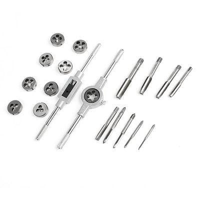 OZE19921102 Adjustable Tap Wrench Die Handle Stock Tool 20 in 1 Set 20pcs m3 m12 screw thread metric plugs taps tap wrench die wrench set
