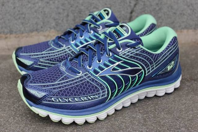 Original Brooks Glycerin 12 Women's running shoes blue/green Free shipping