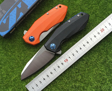 zero tolerance fenton ZT0456 fin folding knife bearing D2 blade G10 parts processing tools of outdoor survival camping hunting