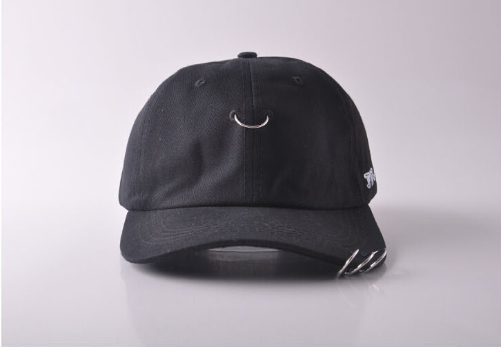 new-suede-cap-in-stock-Gd-unisex-solid-Ring-Safety-Pin-curved-hats-baseball-cap-men (2)
