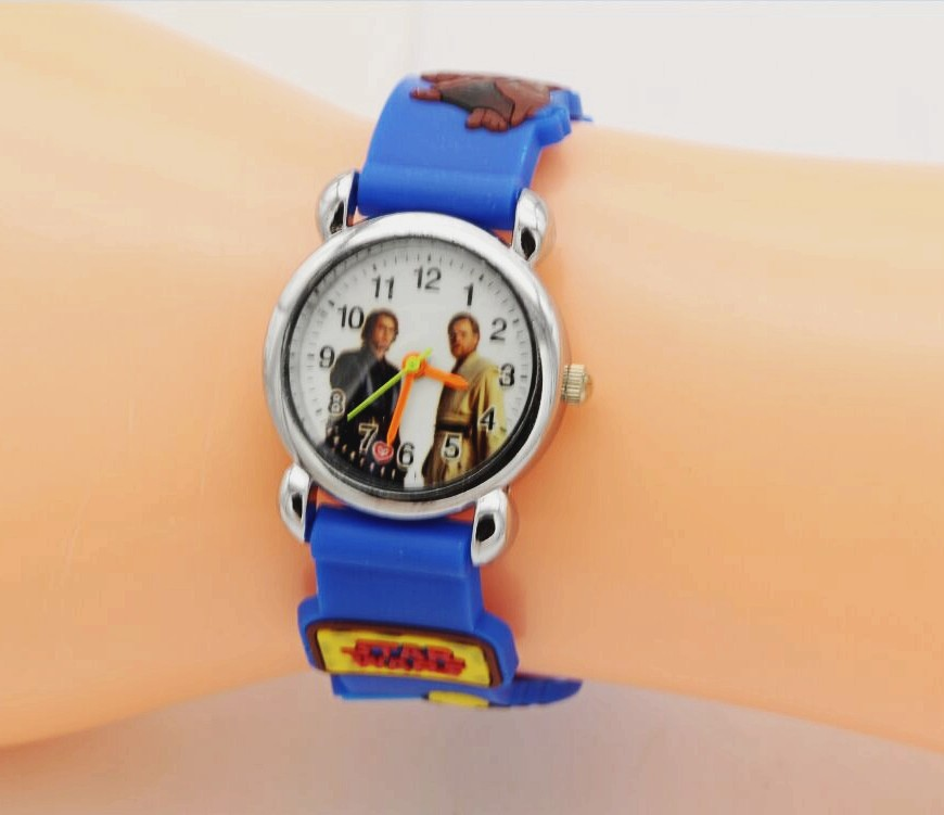 3D Cartoon Lovely Kids Girls Boys Children Students Star Wars Quartz Wrist Watch Very Popular Watches