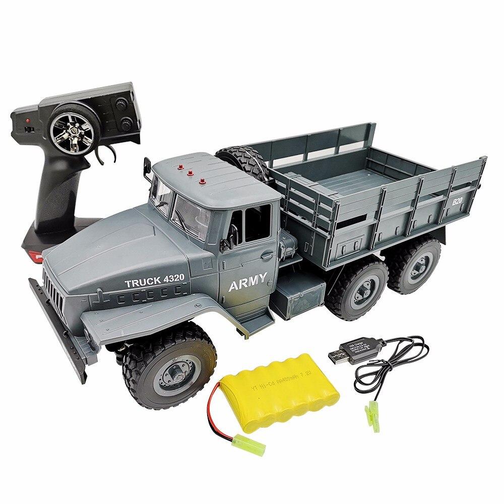 RC Truck 4320 1 12 simulation full size 6wheel drive Soviet Ural military truck model off