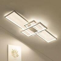 Современные прямоугольник Алюминий светодиодный люстры потолочные светодиодный Потолочные светильники для Гостиная Спальня белый/черный