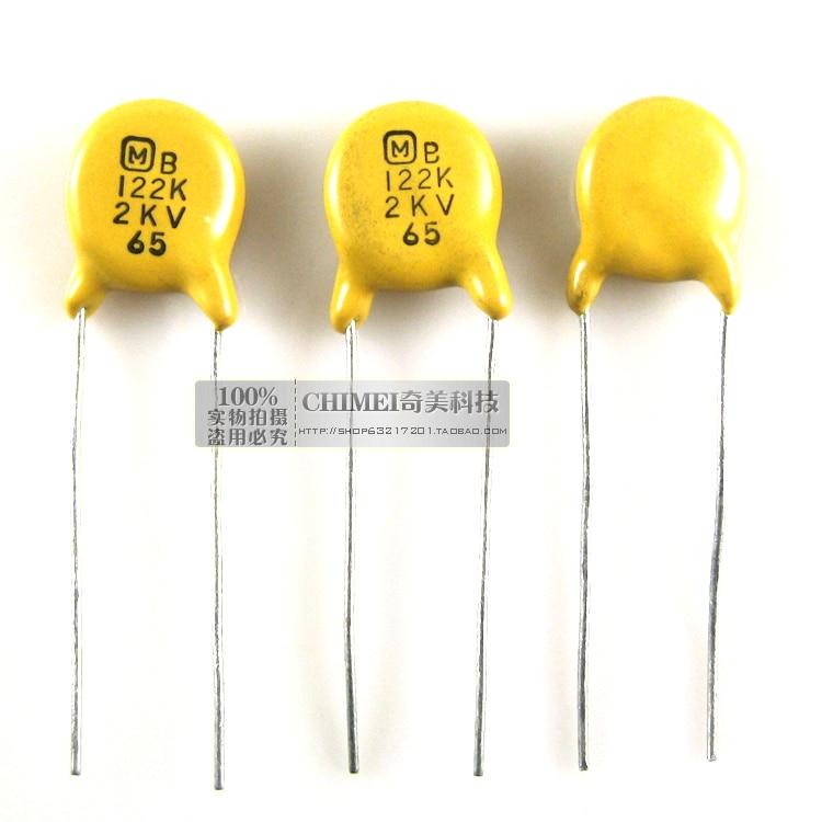 High Voltage Ceramic Capacitors 2KV 122K Ceramic Disc Capacitors Commonly Used In High Voltage Applications