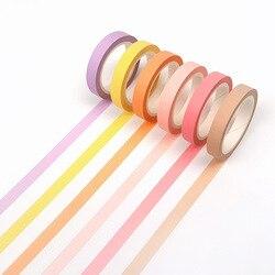 8 мм ширина цветная Радужная японская декоративная клейкая лента маскирующая васи лента Diy Инструменты для скрапбукинга наклейка этикетка