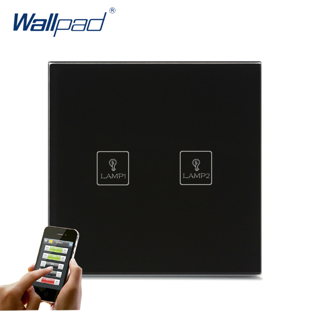 Best Quality WIFI Remote Switch Wallpad Black Glass 110-250V LED APP Wireless 2 Gang WIFI App Electric Touch Hotel Light SwitchBest Quality WIFI Remote Switch Wallpad Black Glass 110-250V LED APP Wireless 2 Gang WIFI App Electric Touch Hotel Light Switch