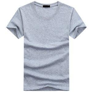 Image 4 - 2020 6 sztuk/partia wysokiej jakości mody męskie t shirty na co dzień z krótkim rękawem T shirt męskie stałe Casual Cotton Tee Shirt lato odzież
