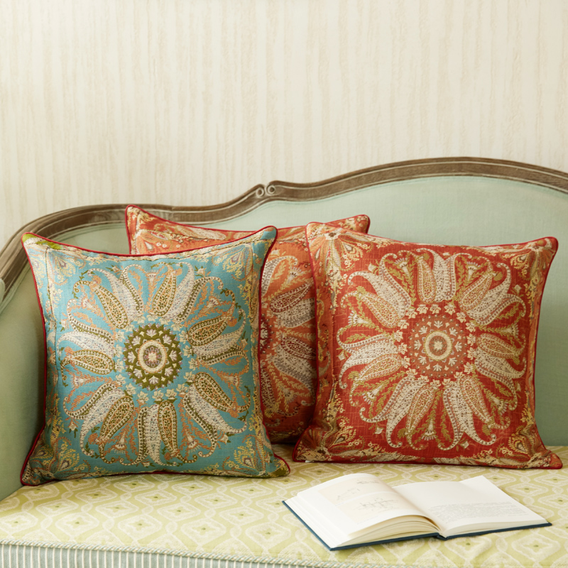 Bohemia Rose handmade floral pillow cover vintage 45x45cm for wedding party decor 1PC Ins flower Pillow cover homewarming gift in Decorative Pillows from Home Garden