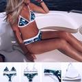 2017 Nova Folha de Impressão Biquíni Brasileiro Biquíni Retro Maiôs Maiô Sexy Impressão Swimwear Biquini Maillot De Bain Femme 15