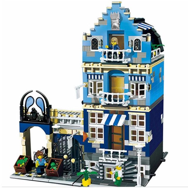 IN STOCK 15007 30013 City Street Series FACTORY Market Street Building Blocks 1275Pcs Bricks Toys For